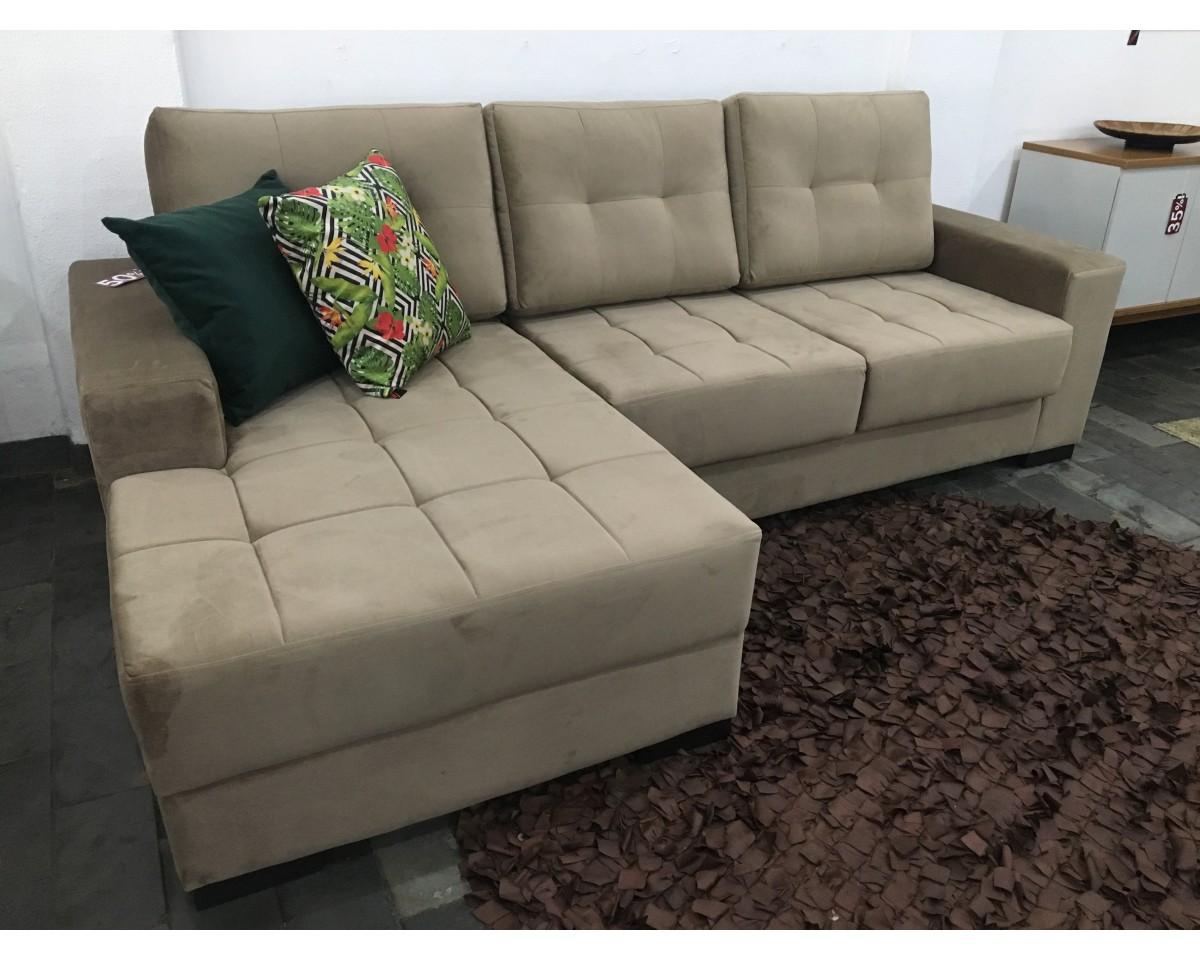 Sofá Retrátil de 2,50m com Chaise - DUBAI