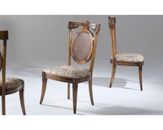 Cadeira de Jantar Clássica Encosto Tela, Fenix