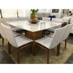 Conjunto Mesa de Jantar 1,50m - ELLIE com 8 Cadeiras - FREYJA