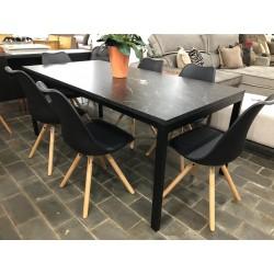 Conjunto Mesa de Jantar 1,80m - MARQUINA com 6 Cadeiras – LUIZA