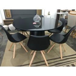 Conjunto Mesa de Jantar 1,20m - DRIELE com 6 Cadeiras – LUIZA