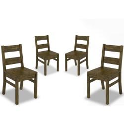 Cadeira em Madeira Maciça de Pinus (Conjunto 04) - SAVANNAH