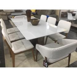 Conjunto Mesa Jantar - FLORA + 6 Cadeiras - MONACO + 2 Poltronas - TROPICÁLIA