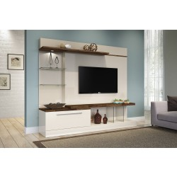 Imagem ambientada Home Theater 2,10m, Allure Off White + Deck