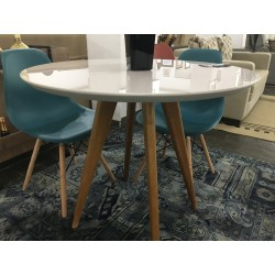 Conjunto Mesa Redonda 80cm - UNI + 4 Cadeiras - EIFFEL