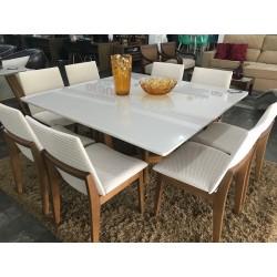 Conjunto Mesa de Jantar Quadrada - ELITTE PLUS com 8 cadeiras - AKILA