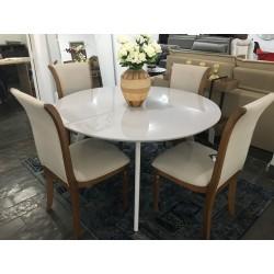 Conjunto Mesa de Jantar Redonda 1,35m – 4450 com 4 Cadeiras – GREGÓRIA