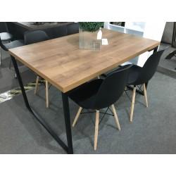 Conjunto Mesa de Jantar 1,35m – INDUSTRIAL com 4 Cadeiras – EIFFEL PP