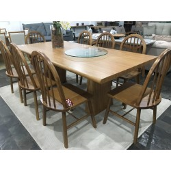Conjunto Mesa de Jantar 2,20m – VERONA com 8 Cadeiras – HANNOVER