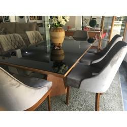Conjunto Mesa de Jantar - AURORA com 6 Cadeiras - DUBAI