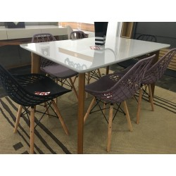 Conjunto  Mesa de jantar - MILANO  com 06 cadeiras - CLOE
