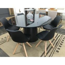 Conjunto Mesa Redonda de Jantar 1,35m - FIRENZE com 6 cadeiras - LUIZA