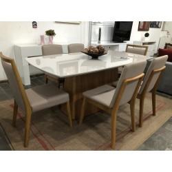 Conjunto Mesa de Jantar 1,80m com 4 Cadeiras - IBIZZA e 2 Cadeiras - ELLITE