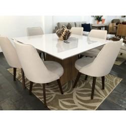 Conjunto de Jantar - AQUILA com Cadeiras - BELGICA