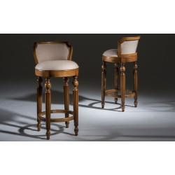 Foto duas banquetas frente e costas. Banqueta Clássica, Luxo
