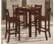 Conjunto de Mesa Bistrô Quadrada e Banquetas em Madeira Pinus - SAVANNAH