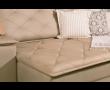Foto do detalhe do sofá modulado retrátil, Yasmin