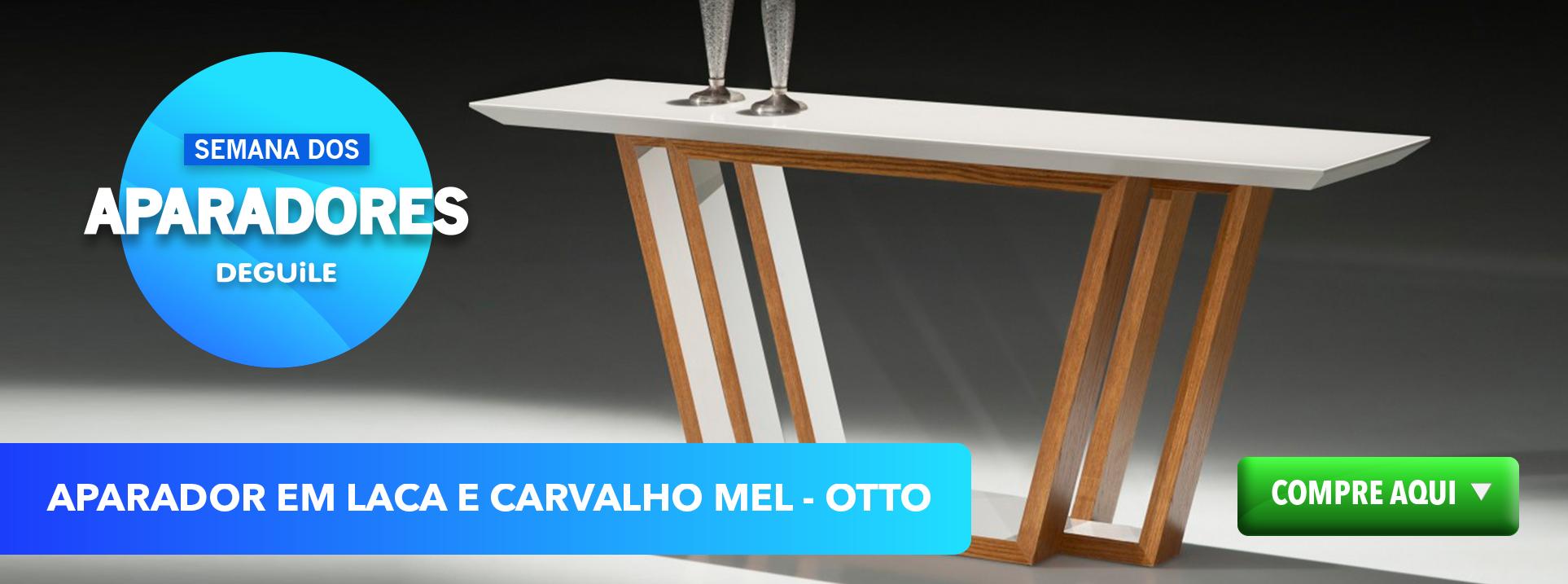 Aparador em Laca e Carvalho Mel - OTTO