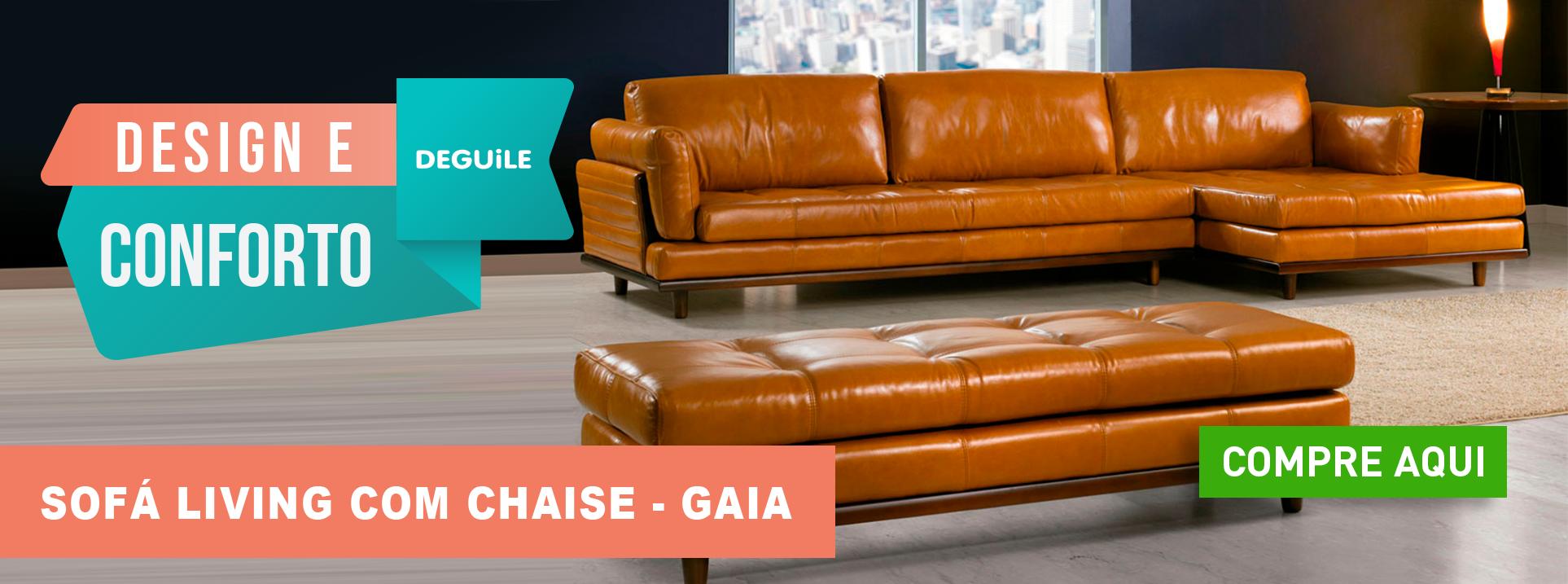 Sofá Living com Chaise - GAIA
