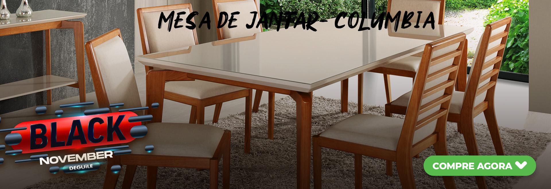 Mesa de Jantar 1,40m a 2,00m - COLUMBIA