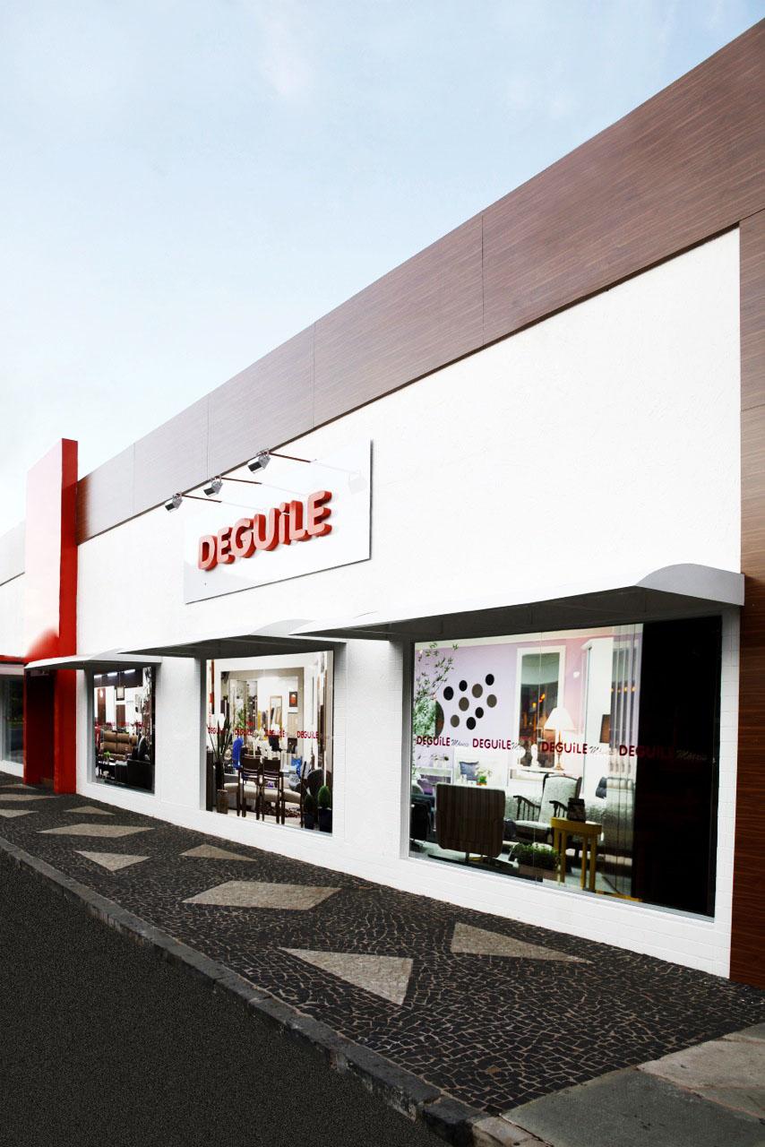 Fachada Deguile Móveis Uberlânida - MG, loja física com mais de 1000m².