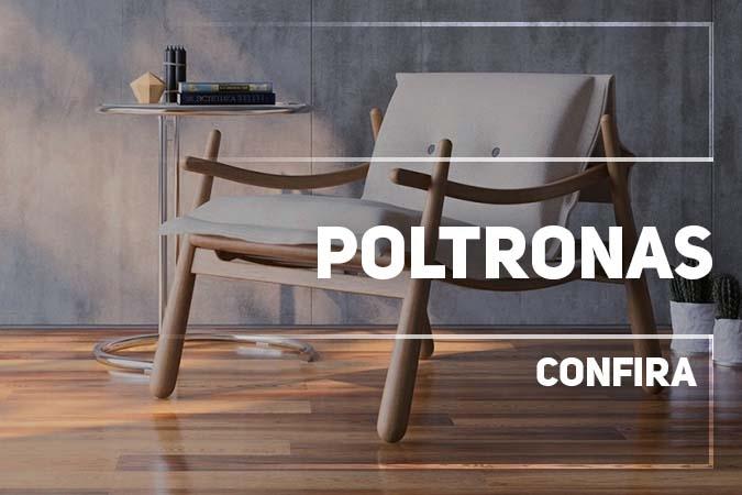Aqui da DEGUILE você encontra Poltronas Estofadas em Madeira Maciça, com diversos tipos de acabamento e tecidos. Também encontrão Poltronas com base em Alumínio, fazendo o contraste do contemporâneo na Decoração.