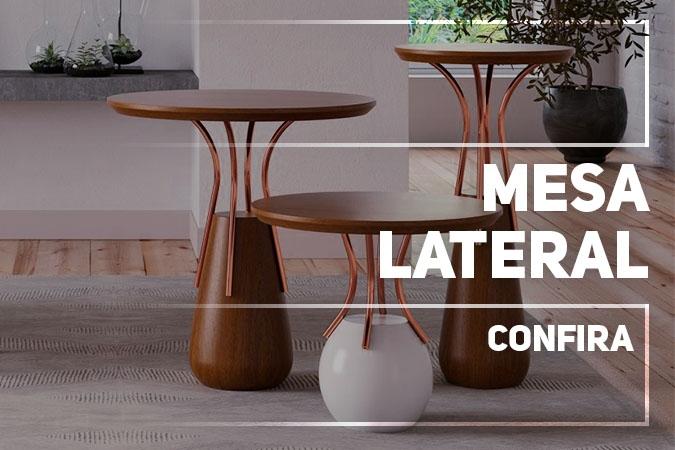 Na DEGUILE, você encontra diversos tipos de opções de Mesa Lateral, seja em Madeira Maciça, com detalhes em Alumínio, Ferro entre outros, com as diversas opções de cores e acabamentos.