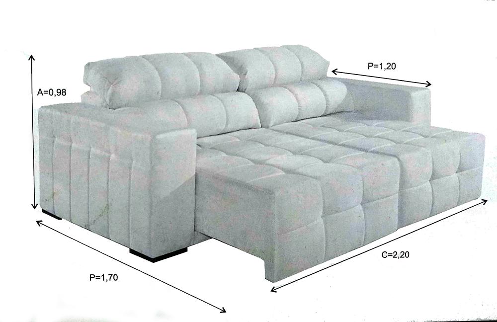 Tamanhos e Medidas do sofá Passione