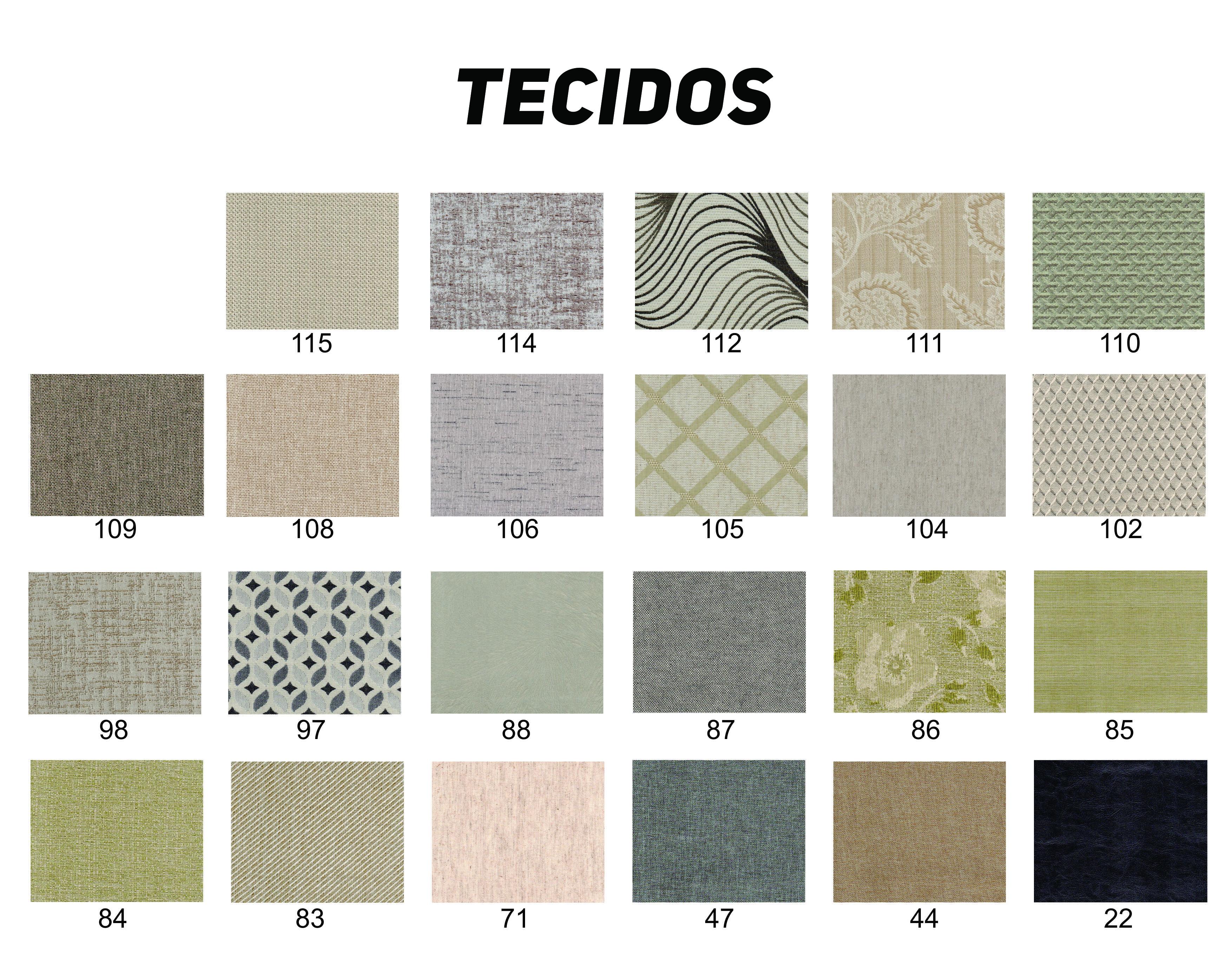 Tecidos diversos para escolha do cliente.