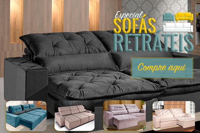 Aqui na Deguile Móveis.com, você encontra lindos sofás retráteis, com diversos acabamentos e tamanhos. Sofás com densidades que irão te abraçar com tanto conforto!