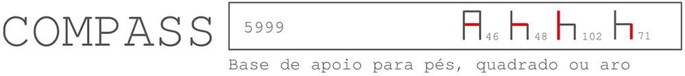 Especificações da Banqueta Compass
