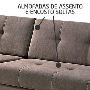 Detalhe almofadas e assentos