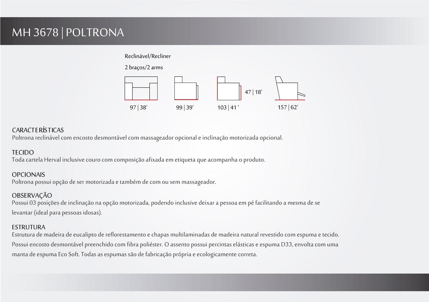 poltrona reclinavel mh3678