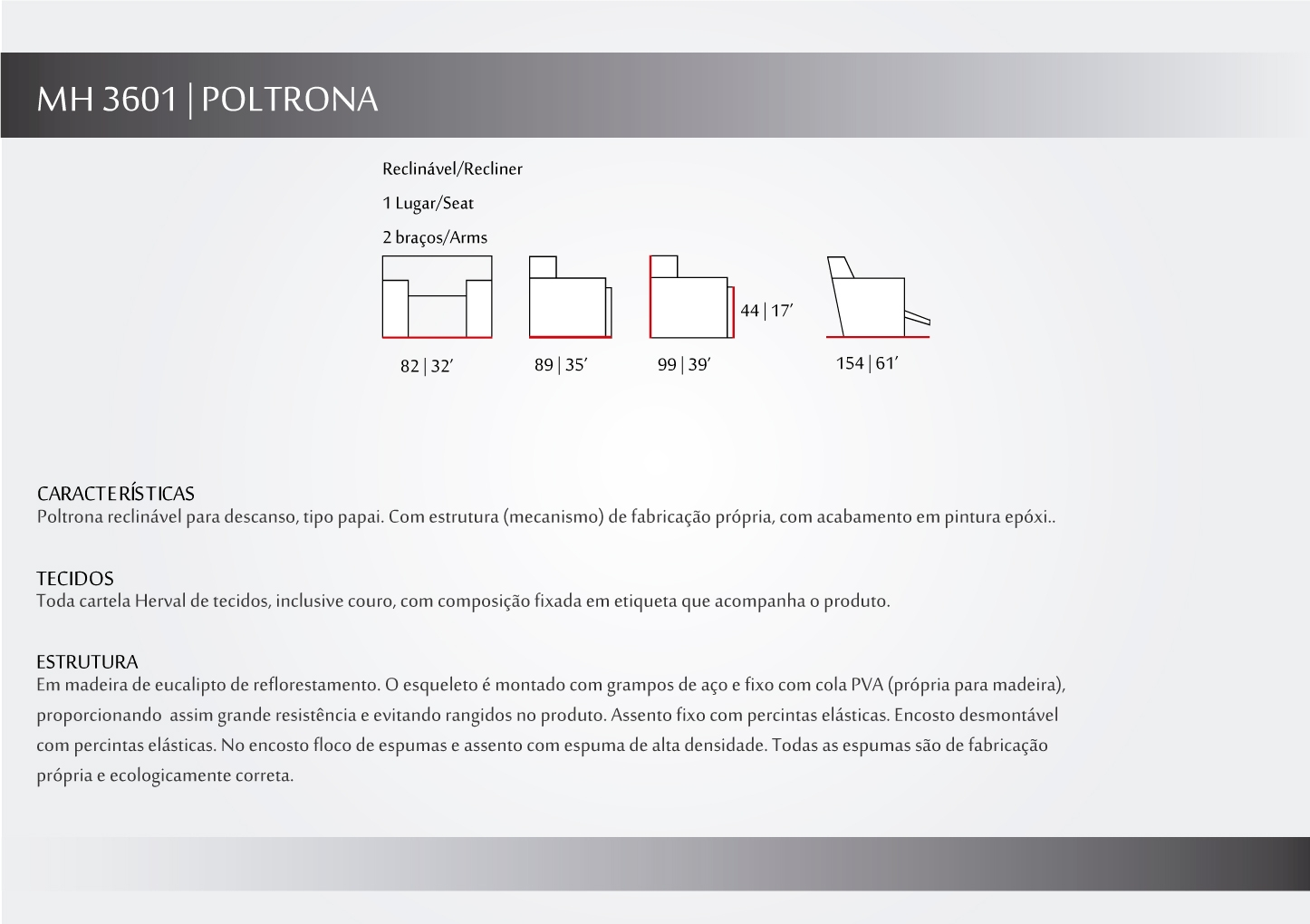 Poltrona Reclinavel - mh3601