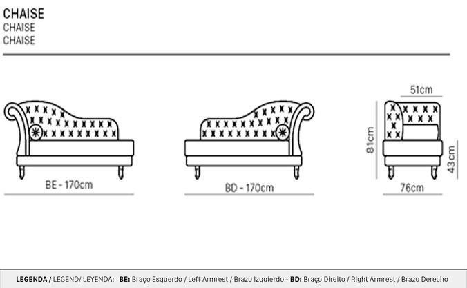 Desenho técnico Chaise