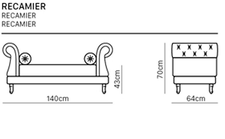 Desenho técnico Recamier
