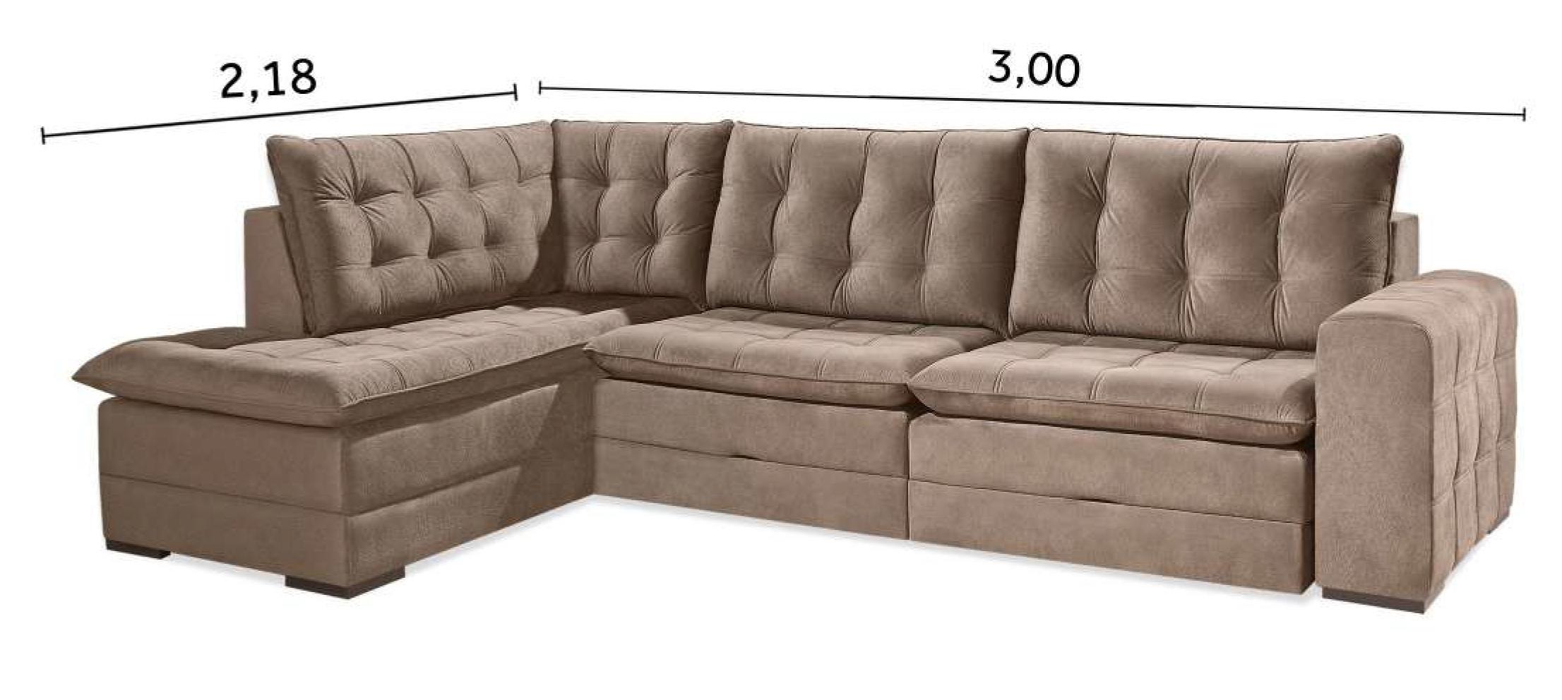 Tamanhos e Medidas do sofá Duba