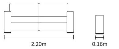 Medidas e profundidade do sofá cama Milliet
